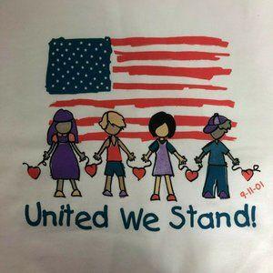United We Stand Sweatshirt Sweater 9 11 USA Flag